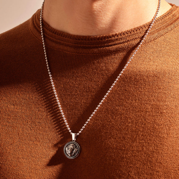 Leo Necklace - Solid Silver (Pendant only)