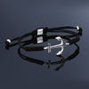 Anchor Macrame Bracelet Black String