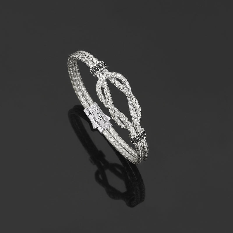Men Silver Artillery Bangle Plating Silver