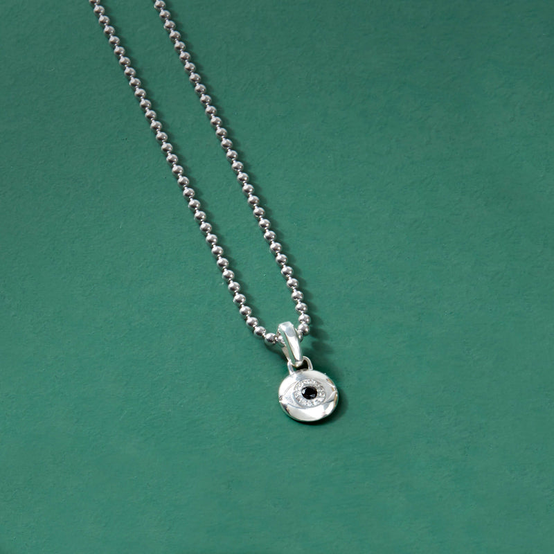 Men's Evil Eye Pendant in Silver (Pendant only)
