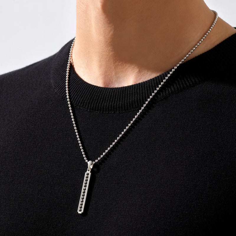 Men's Line Pendant in Silver (Pendant only)