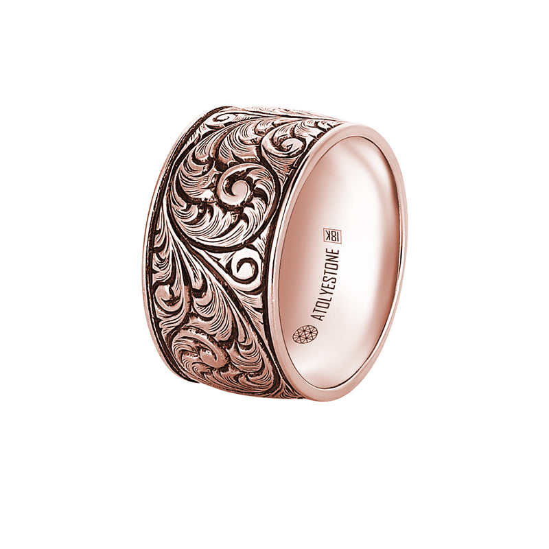 Premium Classic Band Ring in Rose Gold