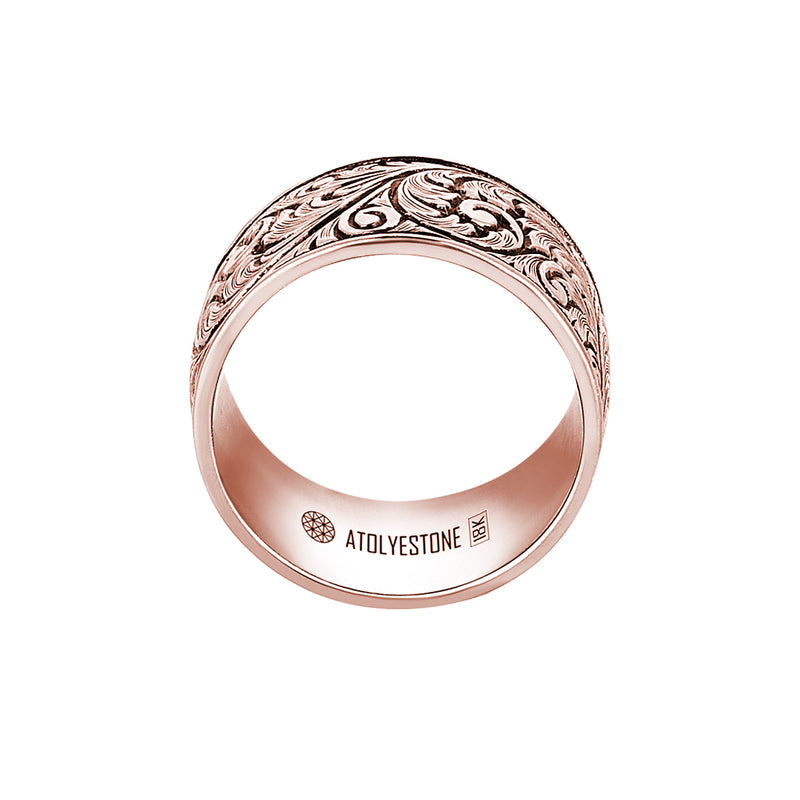 18k Rose Gold Classic Band Ring