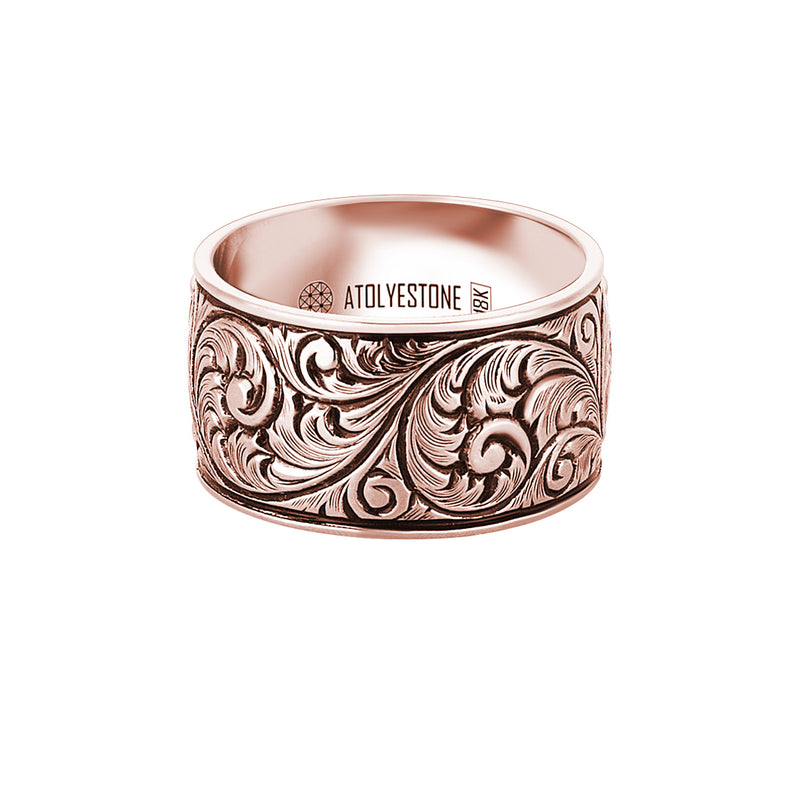 Premium Classic Band Ring in 14k Rose Gold