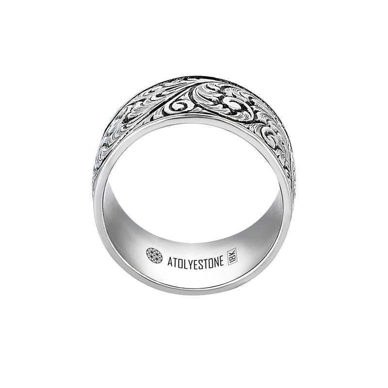 Premium Classic Band Ring in White Gold