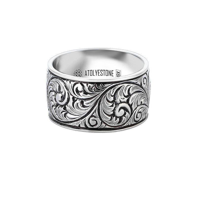 Premium Classic Band Ring in 14k White Gold