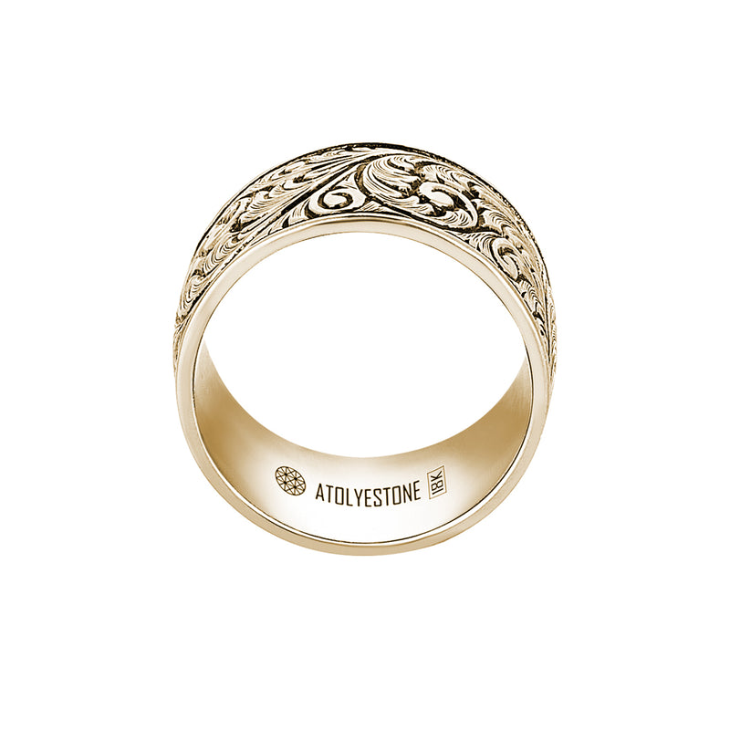 Premium Classic Band Ring in 18k Gold