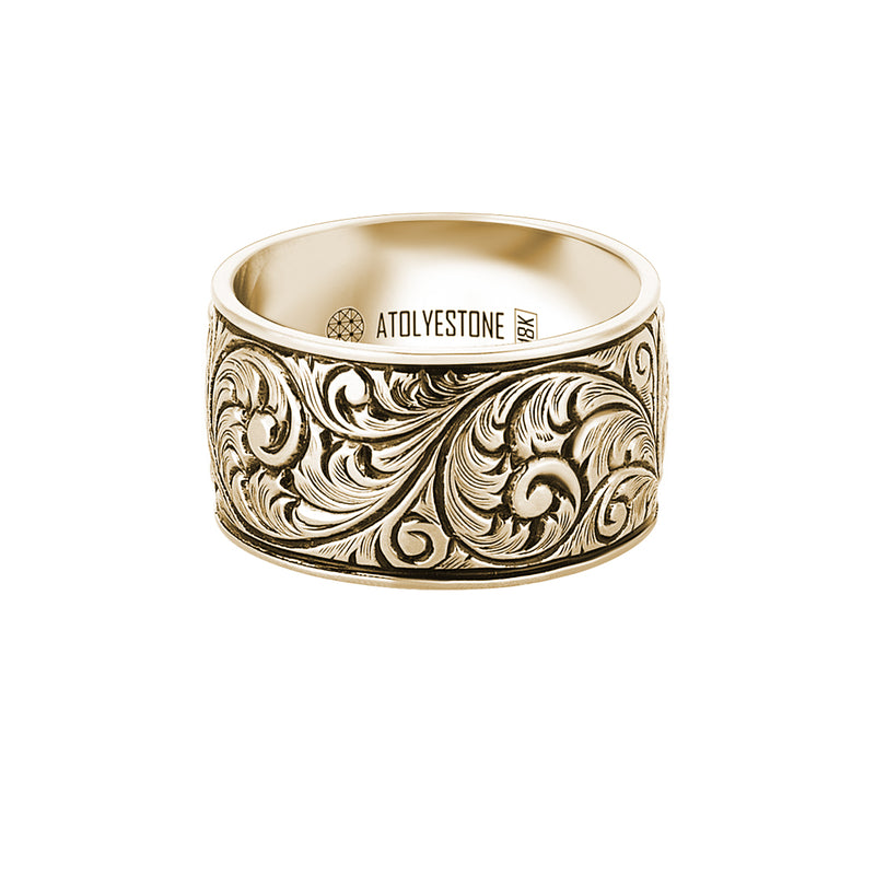 Premium Classic Band Ring in Gold