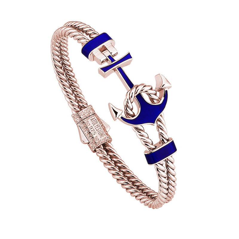 Ocean Twined Anchor Bangle