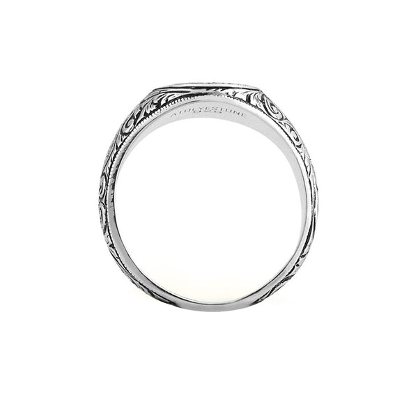 Mens Oval Classic Ring - Solid Silver