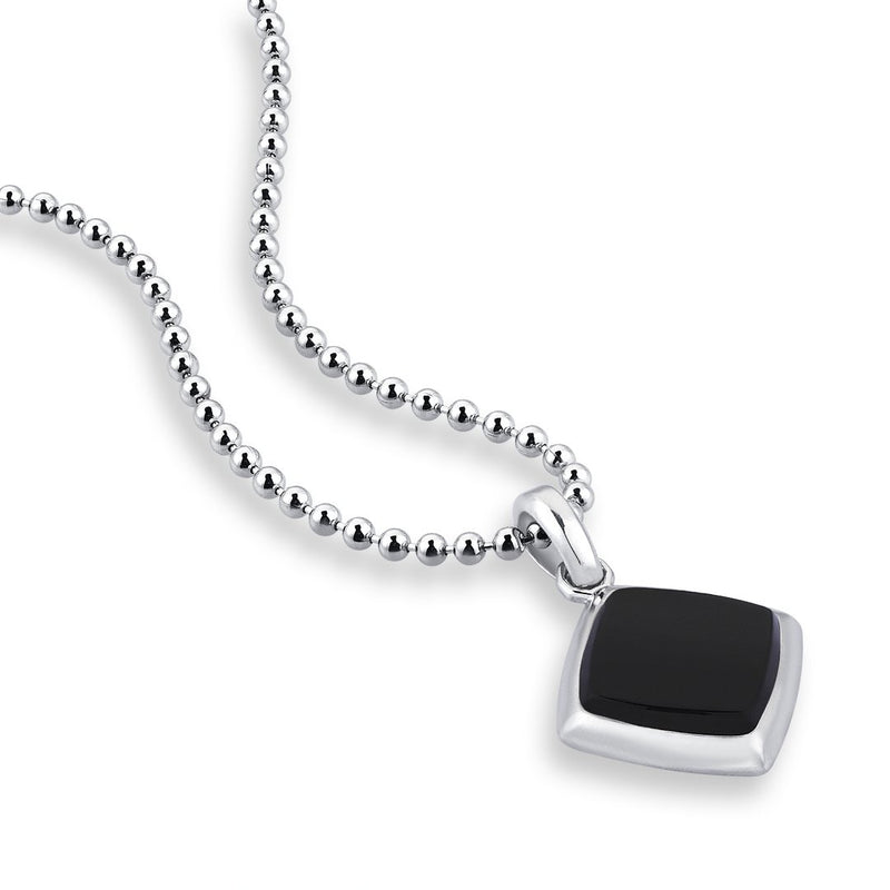 Agate Mens Necklace - Solid Silver