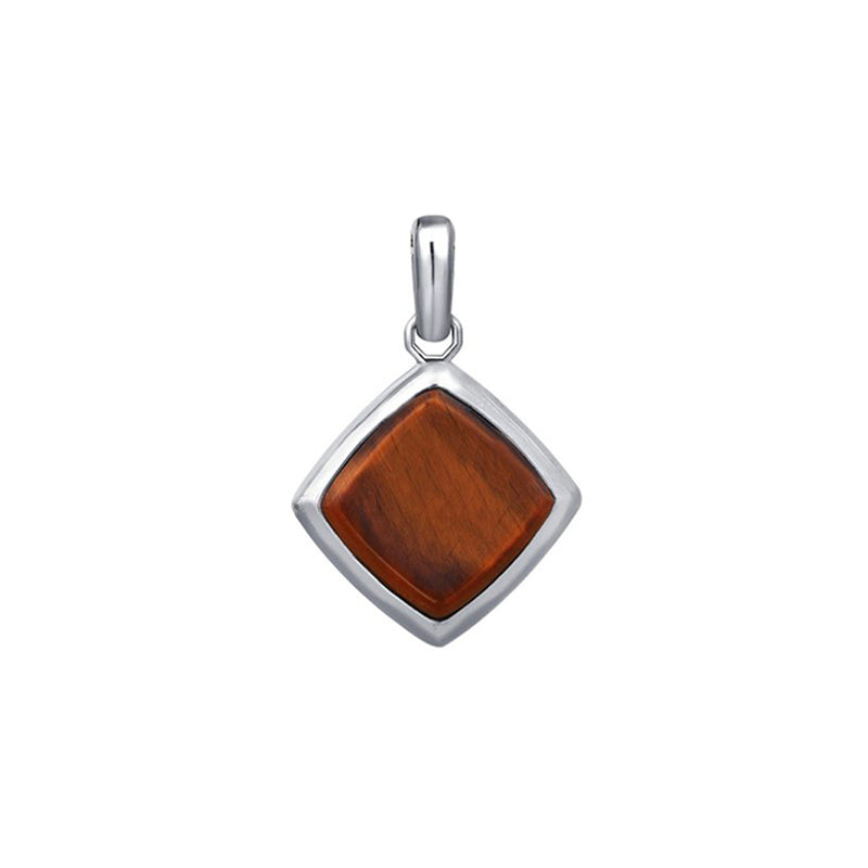 Tiger Eye Pendant - Solid Silver