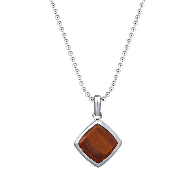 Tiger Eye Necklace - Solid Silver