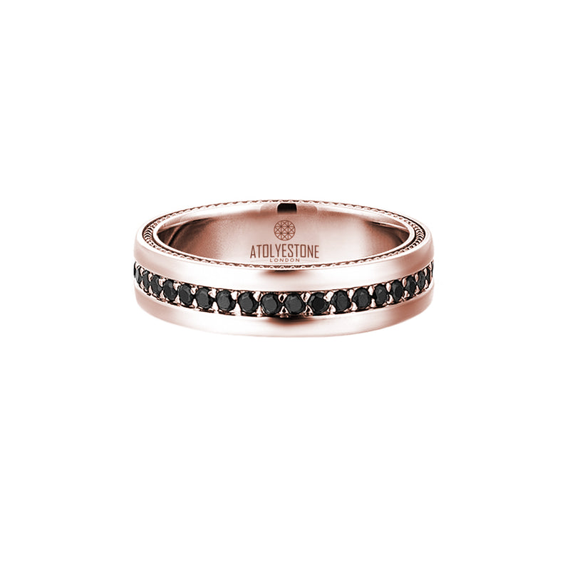 5.5 mm Pave Band Ring - Solid Gold - Cubic Zirconia