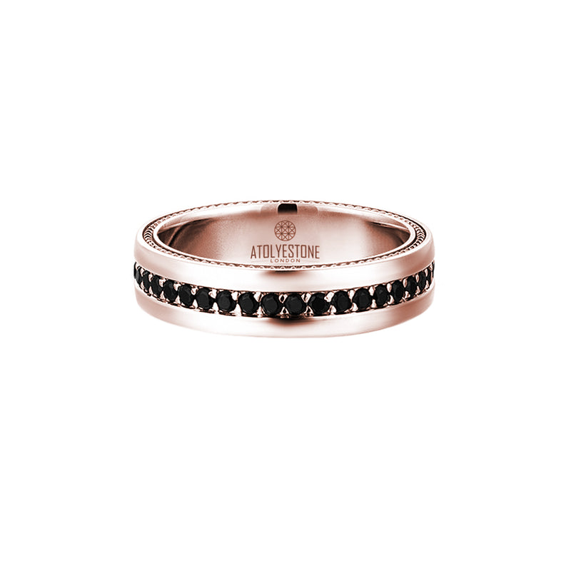 5.5 mm Pave Band Ring - Rose Gold