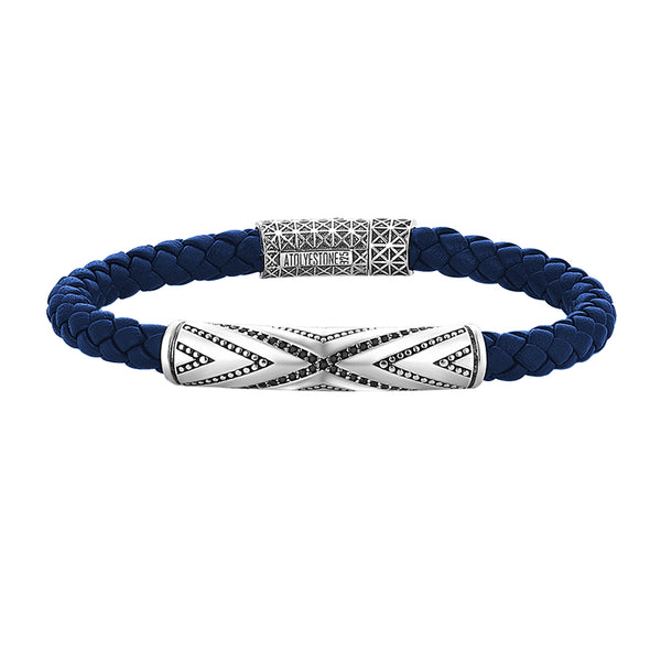 Pave Braided Leather Bracelet