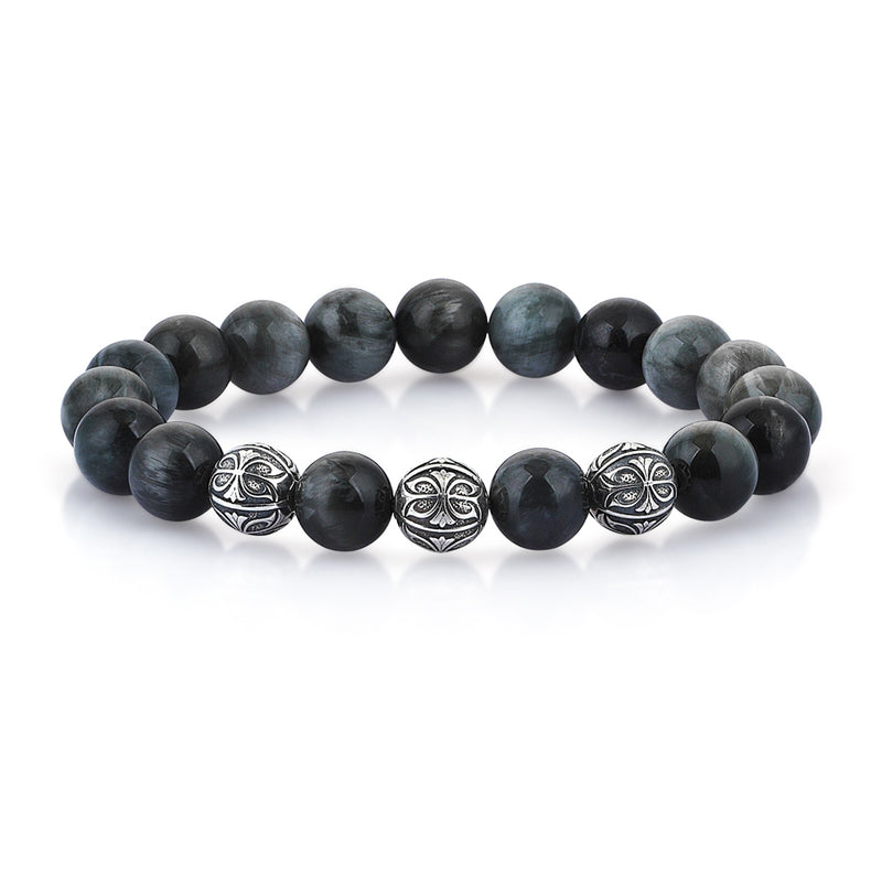 Mens Prime Eagle Eye Apex Beaded Bracelet