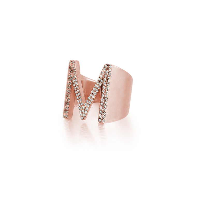 Women's Personalized Ring - Rose Gold