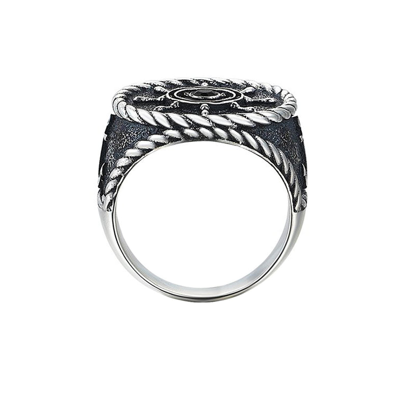 Rudder Ring - Solid Silver for Men