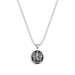 Signet Round Pendant Base for Family Crest - Solid Silver