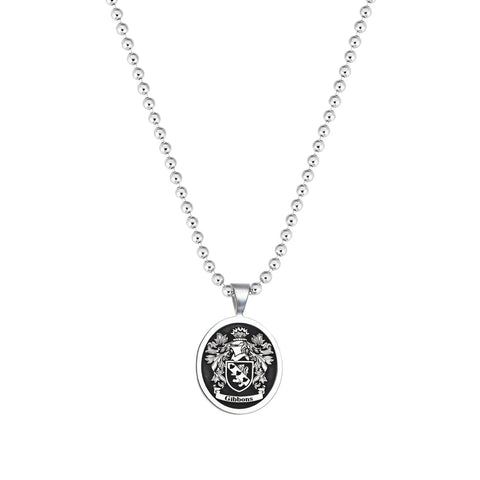 Classic Soldier Tag Necklace - Solid Silver  (Pendant Only)
