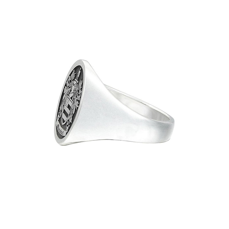 Signet Oval Ring Base For Family Crest