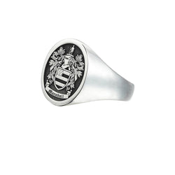 Signet Round Ring Base for Family Crest - Solid Silver