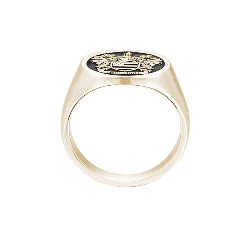 Signet Round Ring Base For Family Crest - Gold