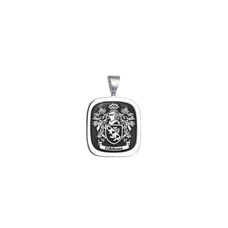 Customizable Family Crest Pendant - Solid Silver