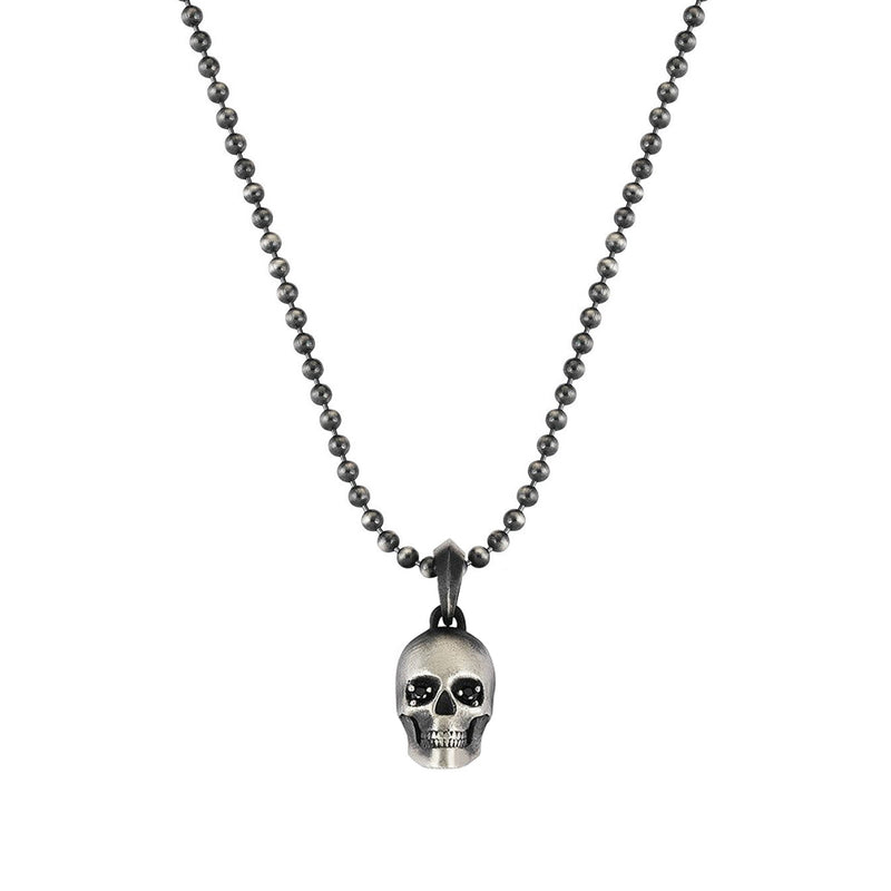 Skull Charm Necklace - Sterling Silver