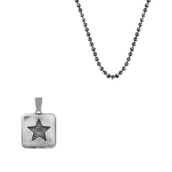Star Necklace Charm With Chain