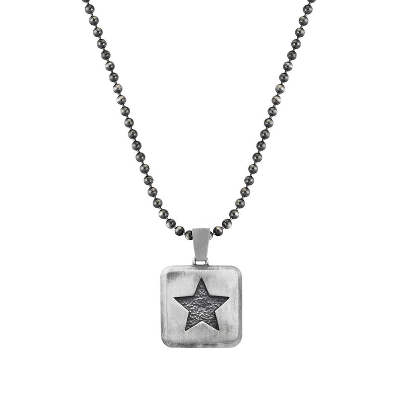 Mens Star Necklace Charm With Chain