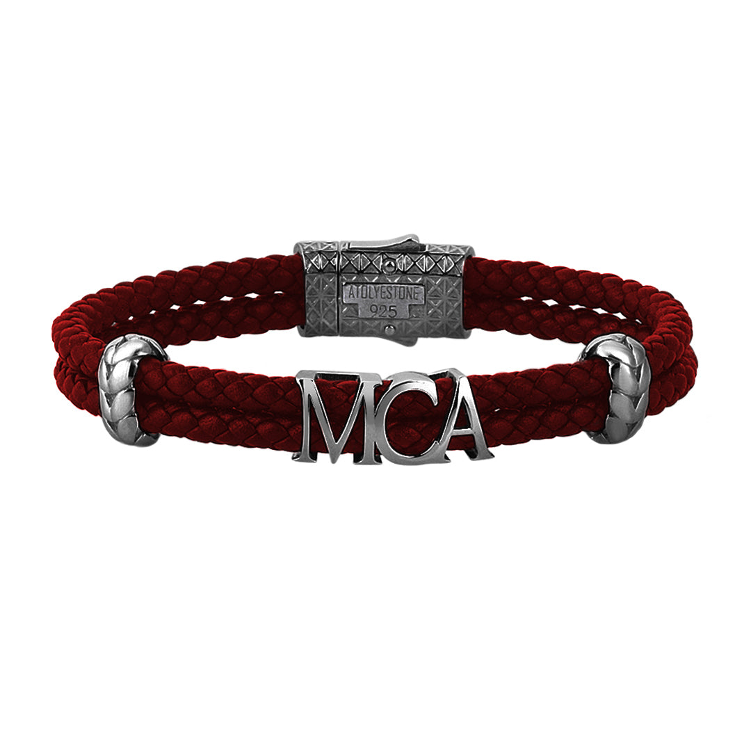 Atolyestone Statements - Dark Red Leather - Gunmetal