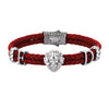 Statements Leo Leather Bracelet - Red Leather