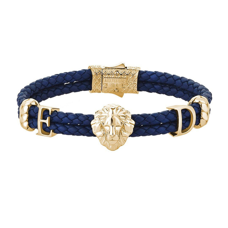 Statements Leo Leather Bracelet - Solid Gold