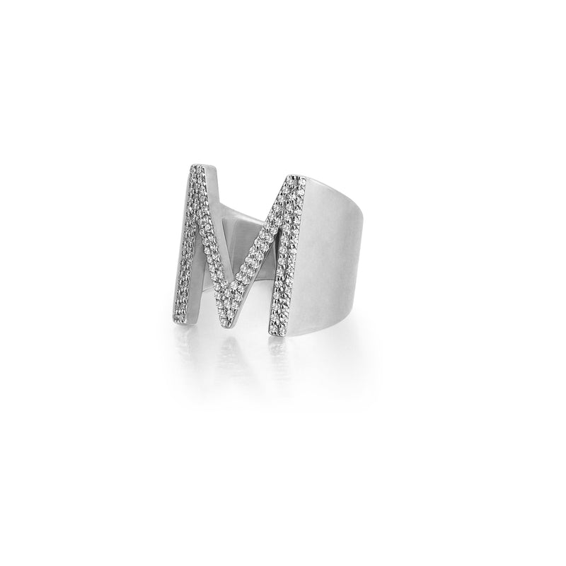 Women's Personalized Ring - Solid Silver