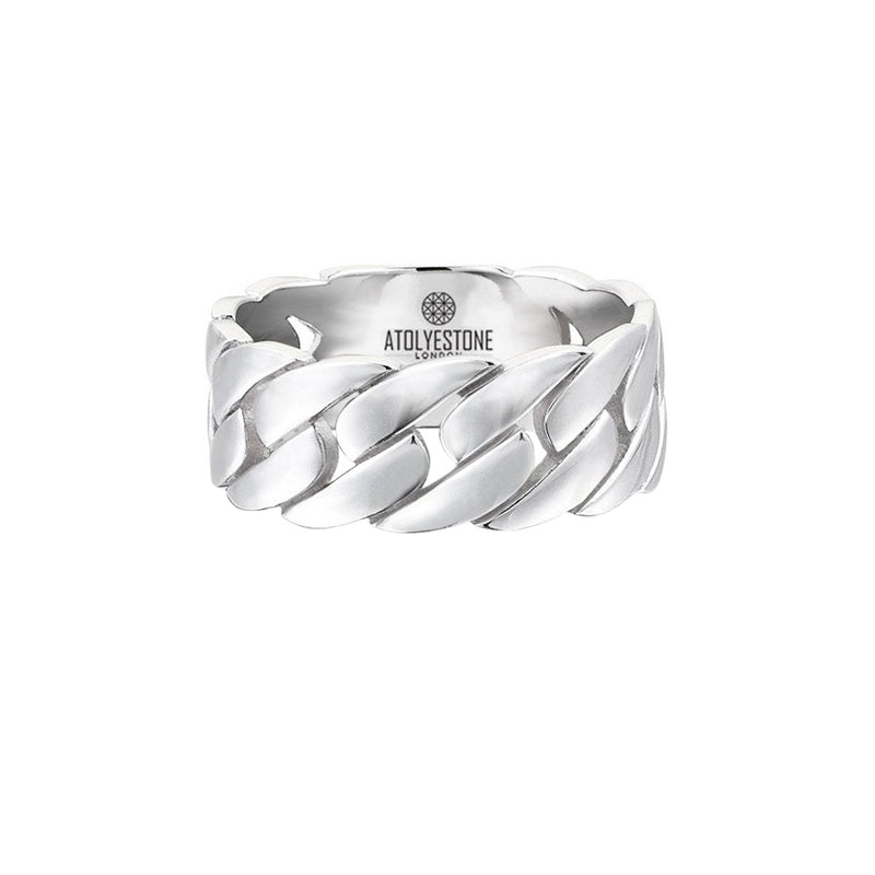 Chain Ring - White Gold