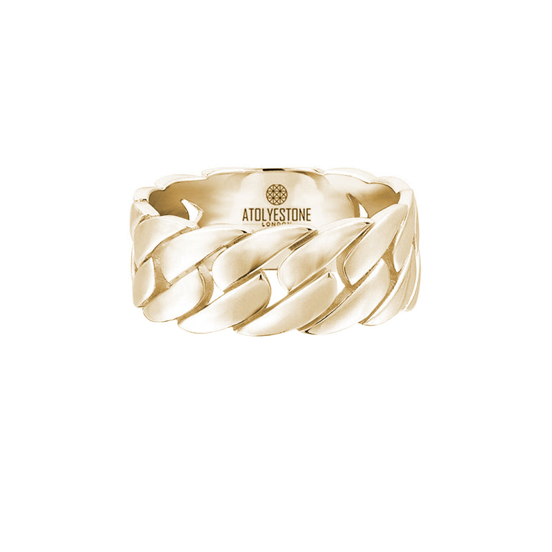 Chain Ring - Yellow Gold