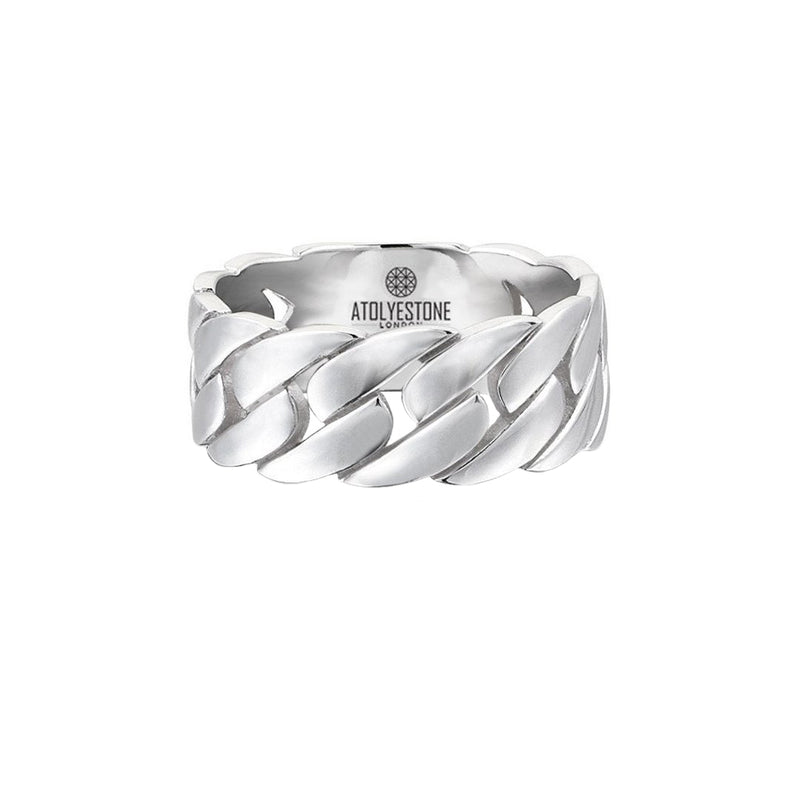 Chain Ring - Solid Silver