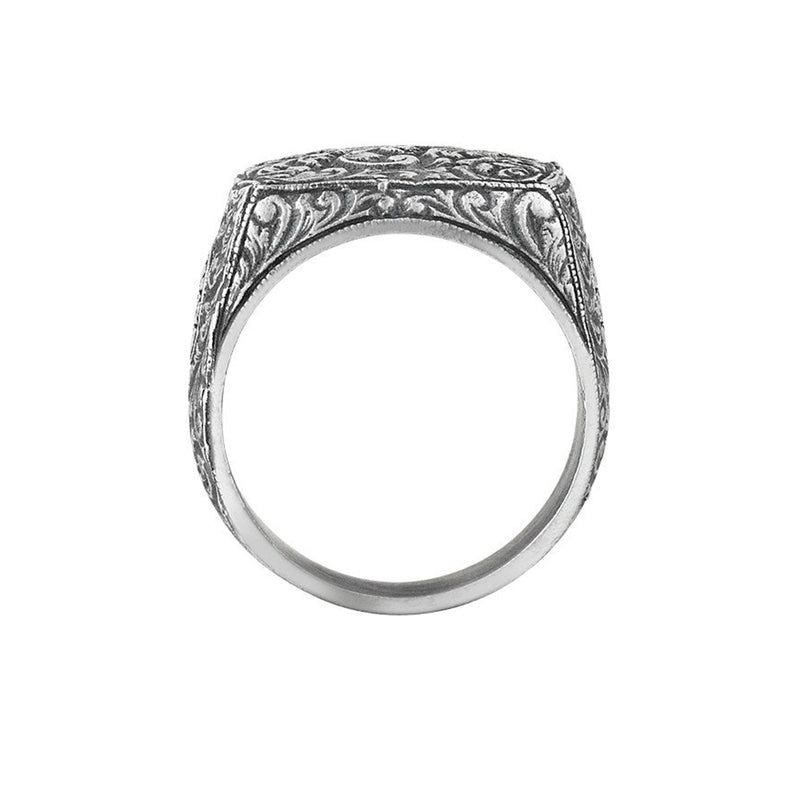 Mens Classic Ring - Solid Silver