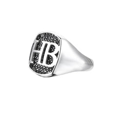 Cushion Pave Statements Ring - Solid Silver