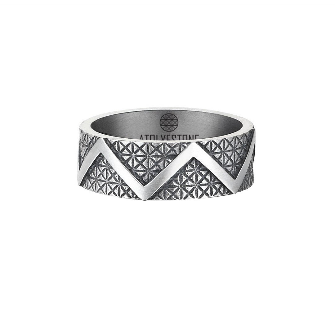 Jagged Ring - Solid Silver