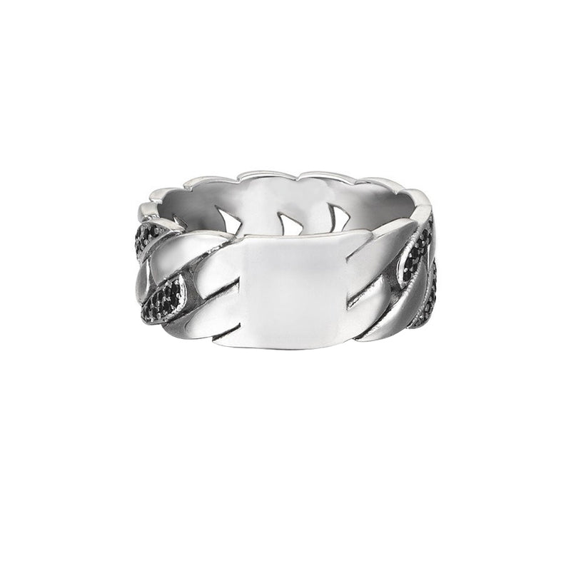 Pave Chain Ring for Men