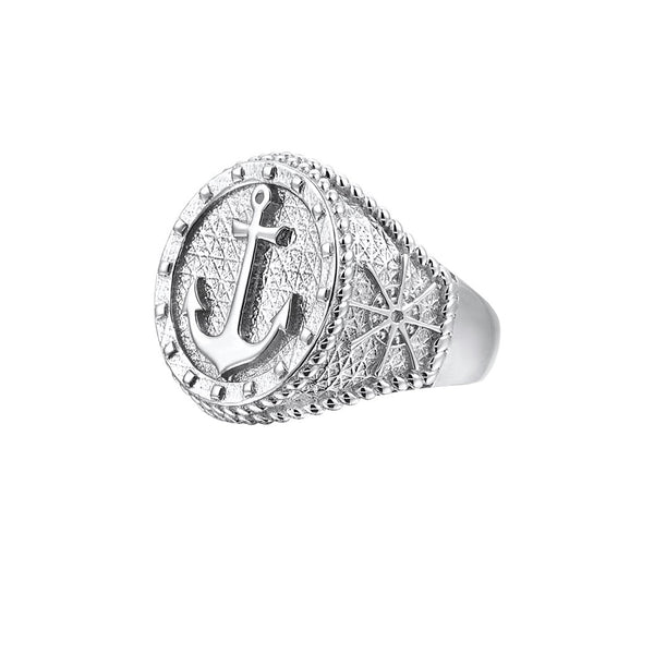 Sailor's Anchor Ring - Silver