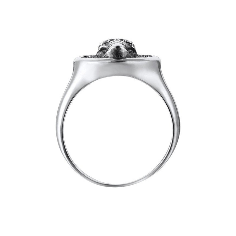 Skull Ring - Solid Silver for Men