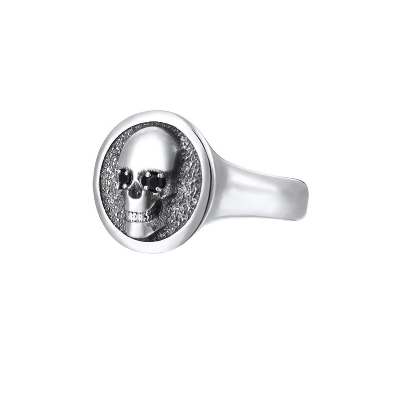 Skull Ring - Solid Silver