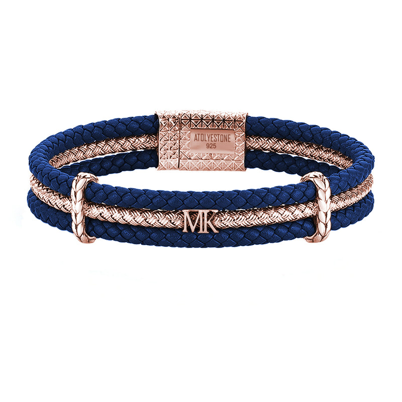Statement Triple Row Leather Bracelet