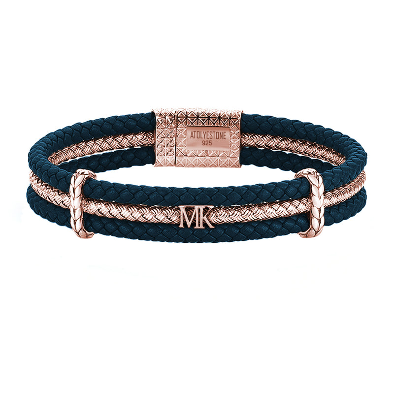 Statements Triple Row Leather Bracelet
