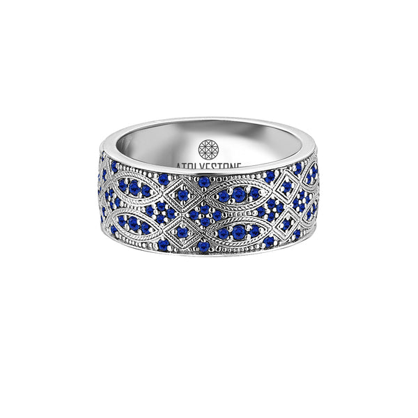 Streamline Band Ring in Sapphire