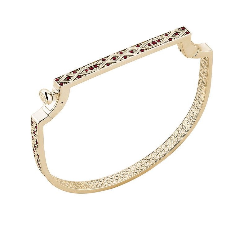 Streamline Bangle in 18k Gold with Ruby